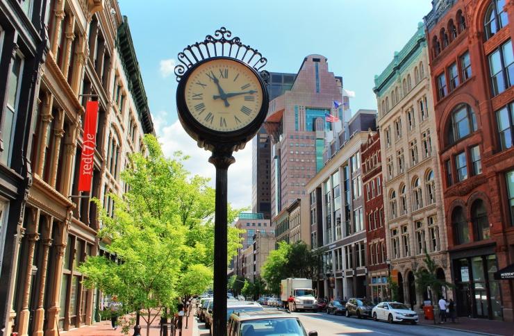 Clock Downtown Louisville Kentucky Full Size